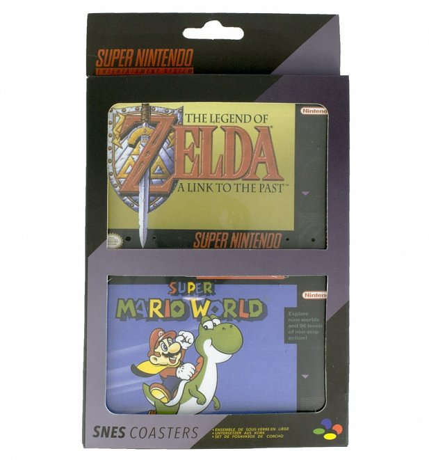 Nintendo SNES Mini Set Of 4 Coasters
