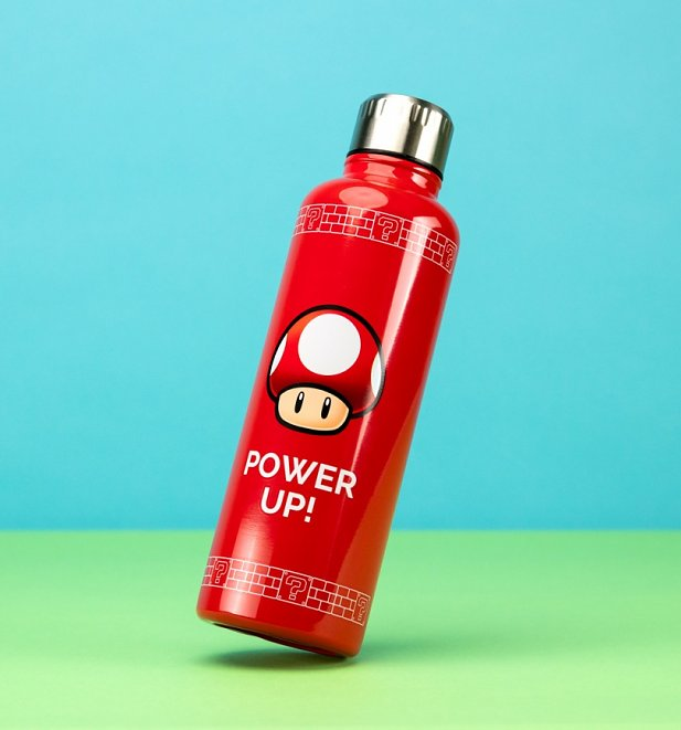 Nintendo Super Mario Power Up Metal Water Bottle