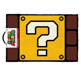 Nintendo Super Mario Brothers Question Block Door Mat