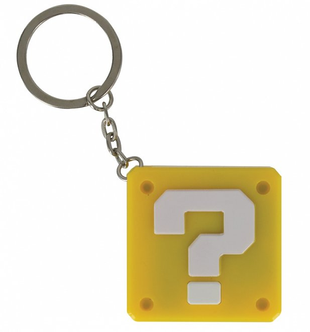 Nintendo Super Mario Brothers Question Block Keychain Light