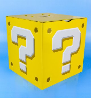 Nintendo Super Mario Brothers Question Block Moneybox With Sounds