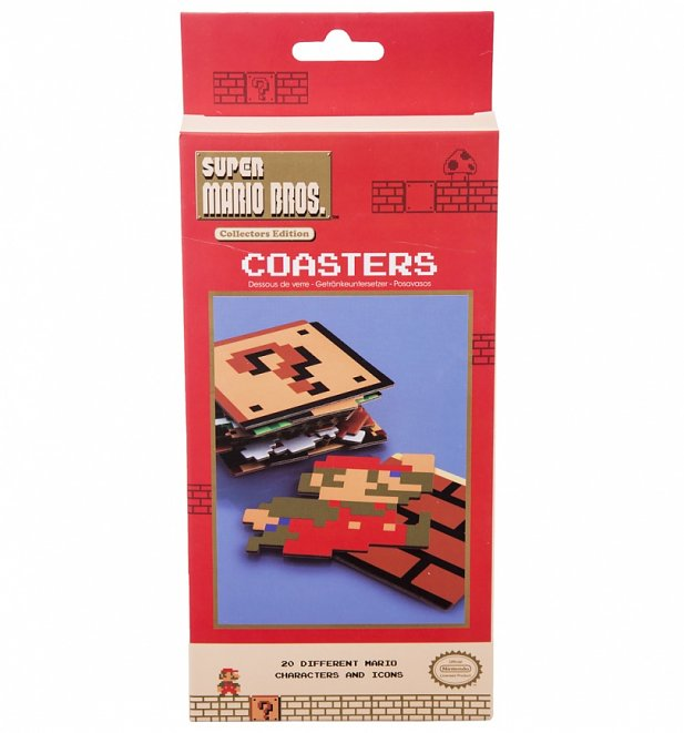 Nintendo Super Mario Brothers Set Of 20 Coasters