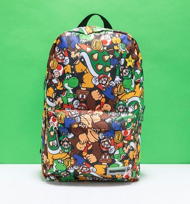 Nintendo Super Mario Characters All Over Print Backpack from Difuzed