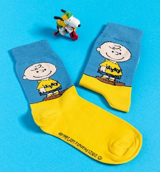 Organic Peanuts Charlie Brown Socks from Dedicated