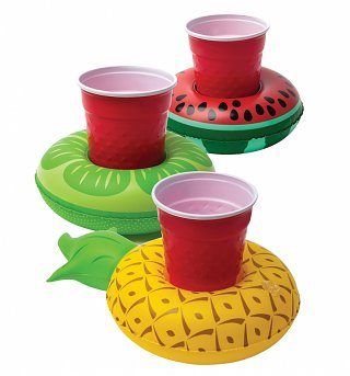 Pack Of Three Inflatable Fruits Drink Floats