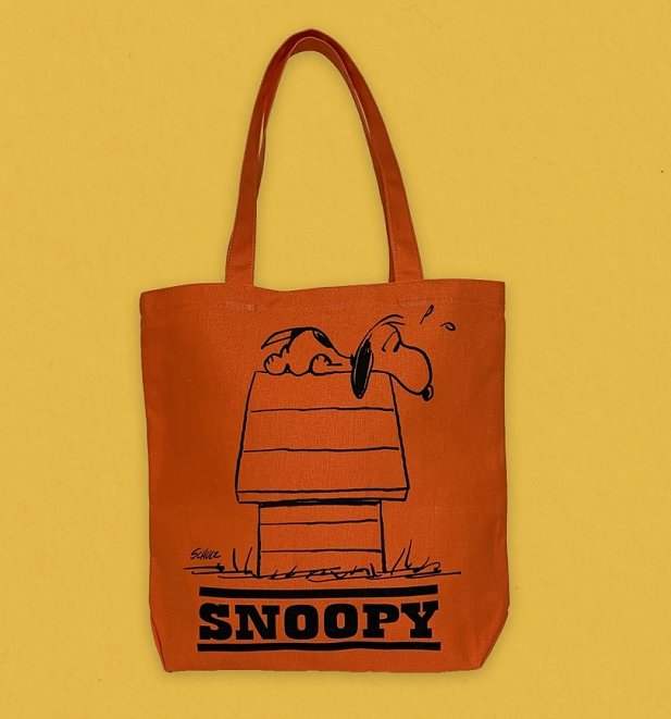 Peanuts Allergic To Mornings Snoopy Canvas Tote Bag