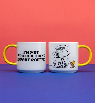 Peanuts Snoopy Before Coffee Mug