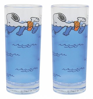 Peanuts Snoopy Set Of 2 Glasses