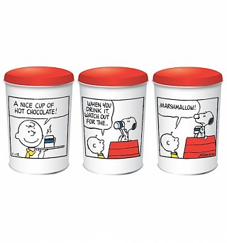 Peanuts Snoopy Set Of 3 Tin Canisters