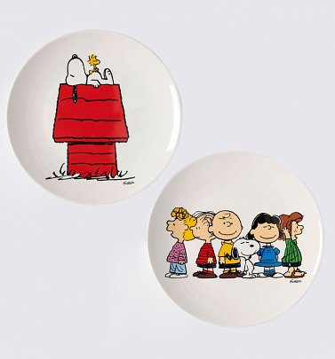 Peanuts Snoopy and Gang Set of Two China Plates
