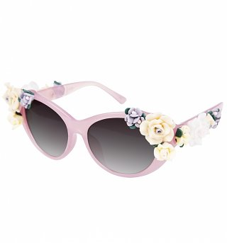 Pink 3D Flowers Sunglasses from Jeepers Peepers