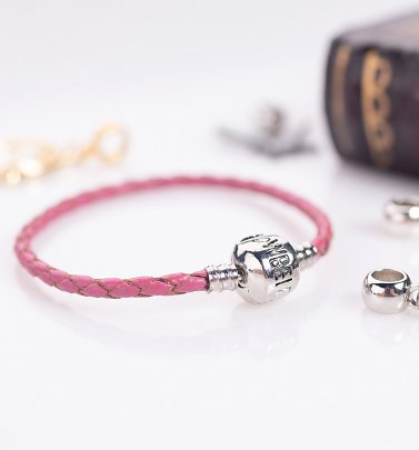 Pink Leather Harry Potter Charm Bracelet For Slider Charms