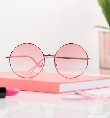 Pink Lens Round Sunglasses from Jeepers Peepers