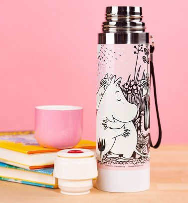 Rosa Mumins Love Thermosflasche von Disaster Designs