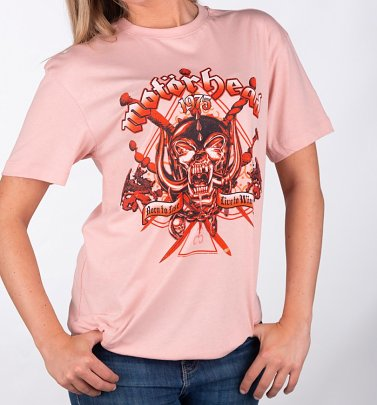 Pink Motorhead Live To Win T-Shirt from Amplified