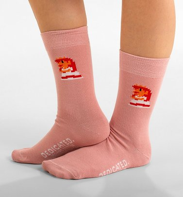 Pink Super Mario Princess Peach Organic Cotton Socks from Dedicated