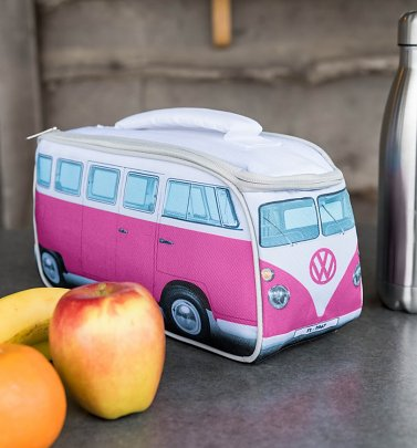 Pink VW Camper Van Lunch Bag