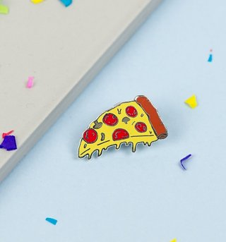 Pizza Slice Enamel Pin from Punky Pins