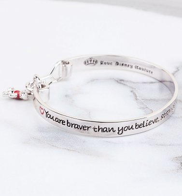 Platinum Plated Braver Than You Believe Winnie The Pooh Bangle