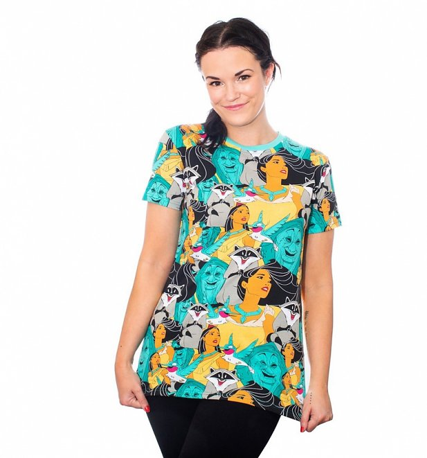 Pocahontas All Over Print T-Shirt from Cakeworthy
