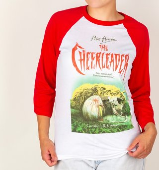Point Horror The Cheerleader White And Red Raglan Baseball T-Shirt