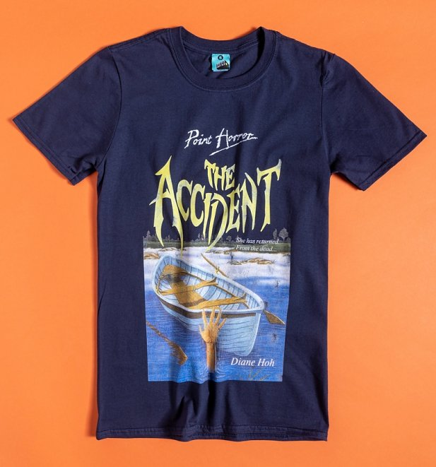 Point Horror The Accident Navy T-Shirt