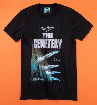 Point Horror The Cemetery Black T-Shirt