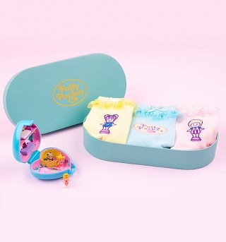 Polly Pocket Set of 3 Pair of Socks in Gift Box