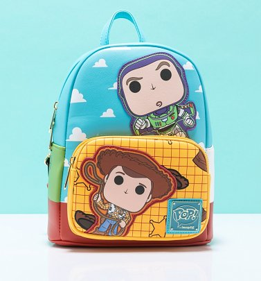 Pop by Loungefly Disney Pixar Toy Story Buzz and Woody Mini Backpack