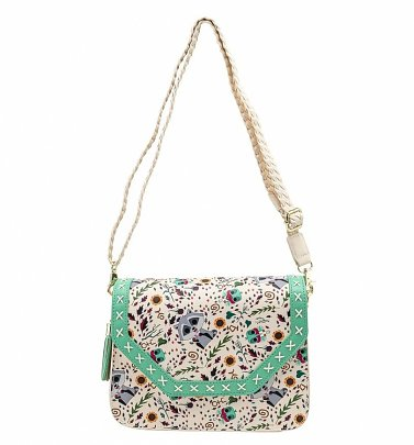 Pop by Loungefly Disney Pocahontas Meeko Flit Earth Day All Over Print Crossbody Bag
