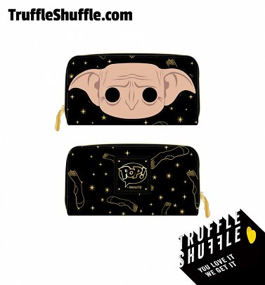 Pop by Loungefly Harry Potter Dobby Head Zip Around Wallet