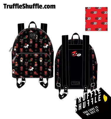 Pop by Loungefly Marvel Deadpool 30th Anniversary All Over Print Mini Backpack