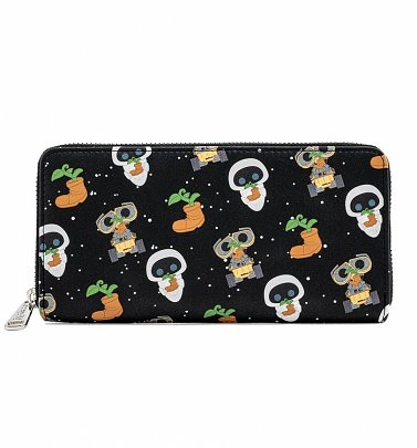 Pop by Loungefly Pixar Earth Day WALL-E All Over Print Zip Around Wallet