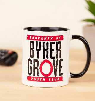 Property Of Byker Grove Black Handle Mug