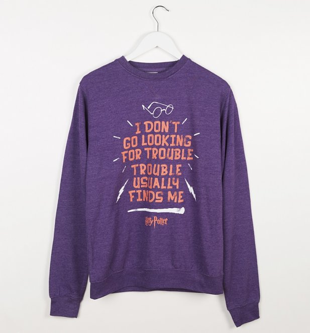 Purple Marl Harry Potter Looking For Trouble Sweater