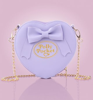 Purple Polly Pocket Heart and Bow Cross Body Bag