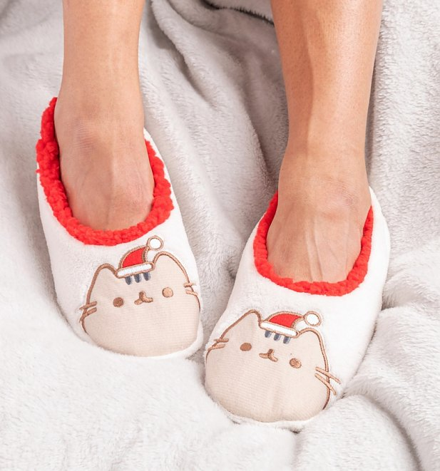 Pusheen Christmas Slipper Socks
