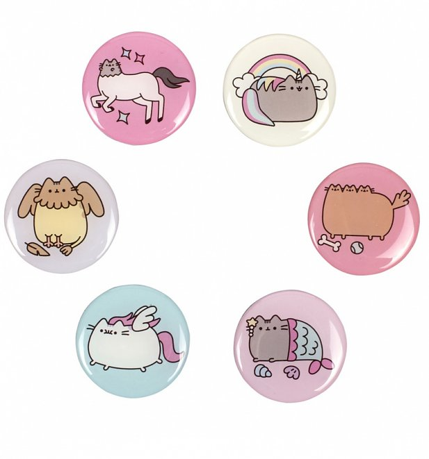 Pusheen Circular Fridge Magnets