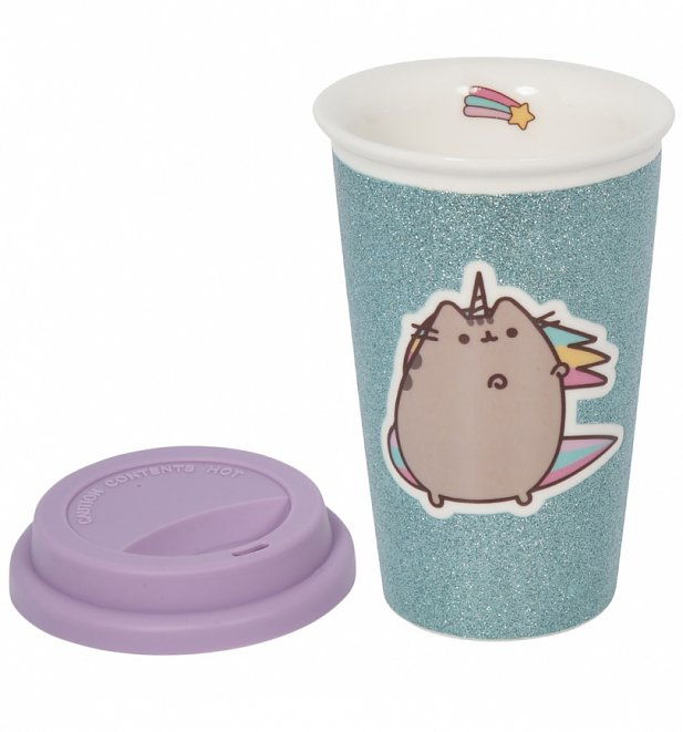 Pusheen Glitter Unicorn Ceramic Travel Mug