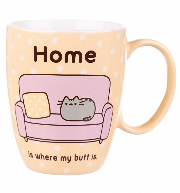 Pusheen Home Is Where My Butt Is Mug