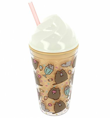 Pusheen Ice Cream Cup With Straw