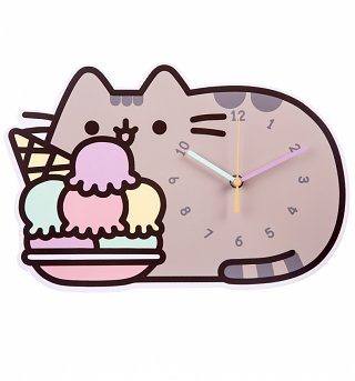 Pusheen Ice Cream Wall Clock