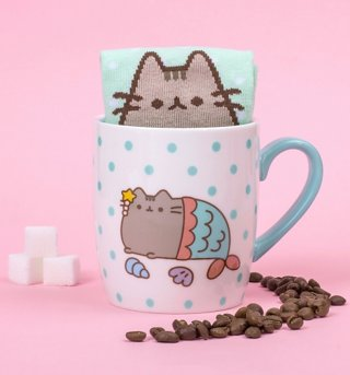 Pusheen Mermaid Socks And Mug Gift Set