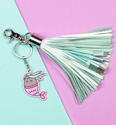 Pusheen Mermaid Tassel Charger