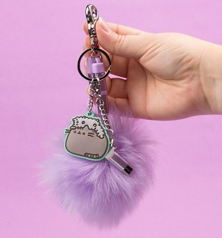 Pusheen Pom Pom Phone Charger Keyring