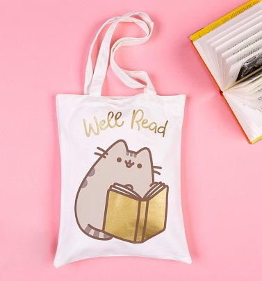 Pusheen Reading Tote Bag