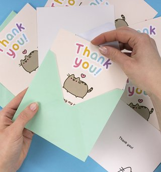 Pusheen Thank You Notes