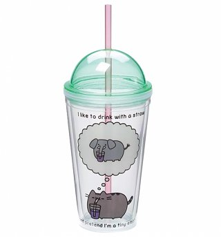 Pusheen Tiny Elephant Drinking Cup With Straw