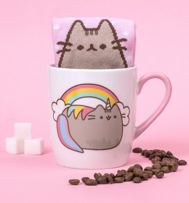 Pusheen Unicorn Mug and Socks Gift Set