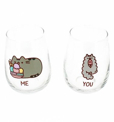 Pusheen and Stormy Set Of 2 Glasses